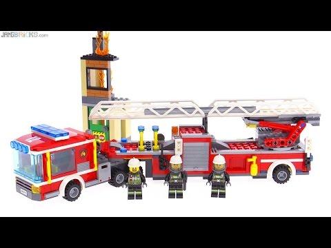 Lego City 2016 Fire Engine Tiller Truck Review 60112