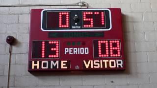 Electromechanical Fair-Play BB-200 Basketball Scoreboard In Use