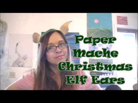 DIY Paper Mache Elf Ears for Christmas