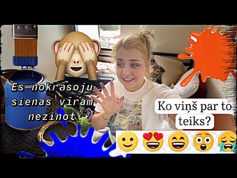 ASV Vlogs #8 | Vidusmēra Vlogs Par To, Kā Es Nokrāsoju Savu Guļamistabu Jocīgā Krāsā| @egituc