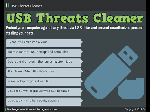 USB Threats Cleaner By VB.NET