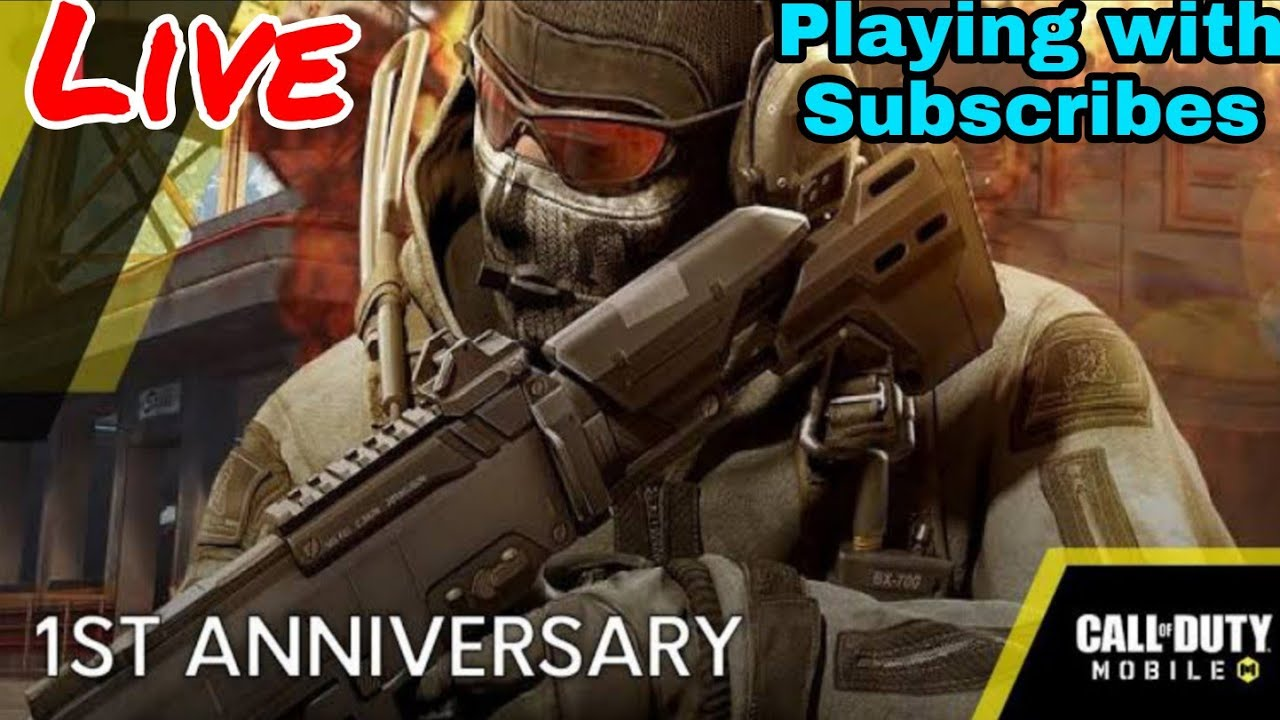 COD Mobile Anniversary Gameplay | Playing with Subscribers