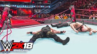 WWE 2K18 Braun Strowman vs Big Show | WWE 2K18 Ring Collapsed | WWE 2K18 Ring Break PS4 Gameplay