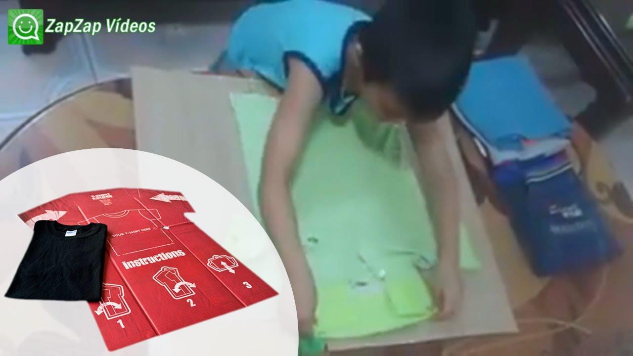 como dobrar roupa rapido