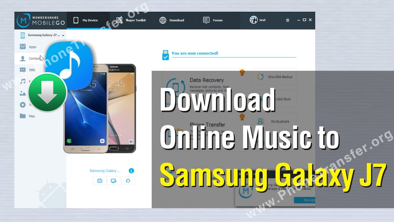 How to Download Online Music to Samsung Galaxy J9 - YouTube