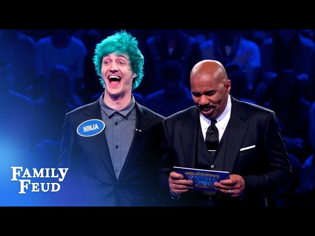 Ninja and brother Chris CRUSH Fast Money! | Celebrity Family Feud