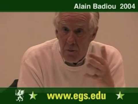 Alain Badiou. Political Perversion and Democracy. 2004 9/12