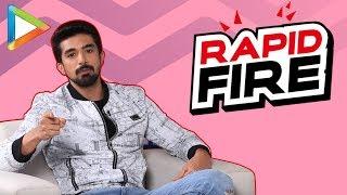 "Saqib Saleem: ""As growing up, I was SRK fan…"" | RAPID FIRE | Salman | Aamir | Jacqueline"