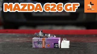 Installation Fog Light Bulb yourself video instruction on MAZDA 626