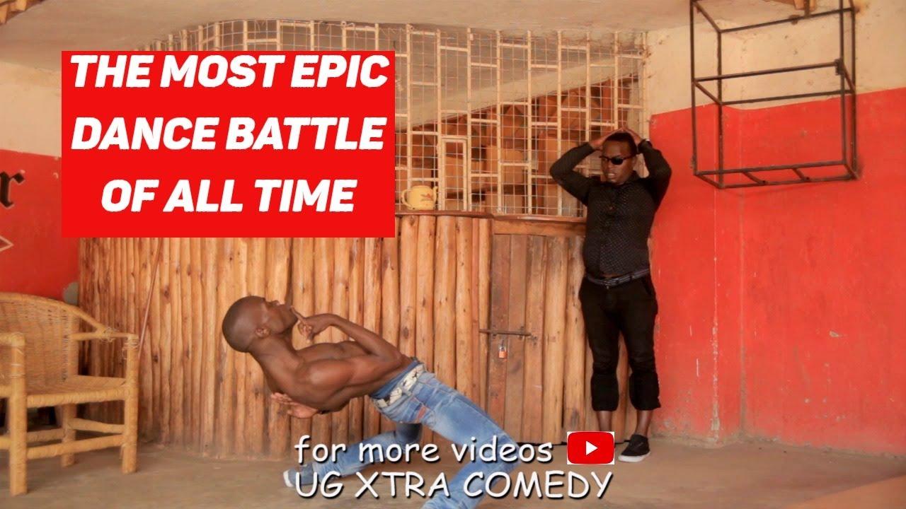 Download FUNNIEST DANCE BATTLE1 KING KONG MC OF UGANDA & JUNIOR URSHER   African Comedy 2017 HD.