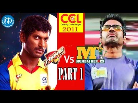 CCL 1 - Chennai Rhinos Vs Mumbai Heroes Match Part 1