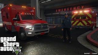 GTA 5   Rescue Mod V Day 13   Paramedic Mod   New Dodge Ram 3500 Ambulance   RAMBULANCE