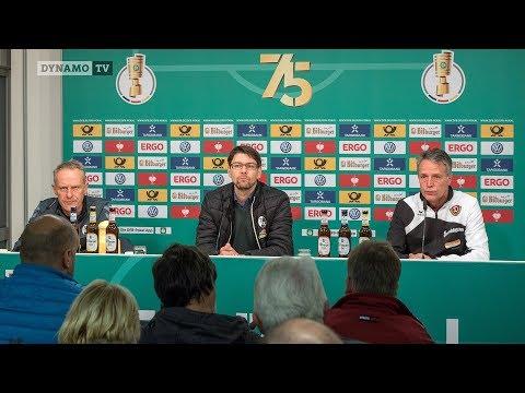 2. Runde DFB-Pokal | SCF - SGD | Pressekonferenz nach dem Spiel