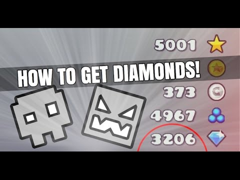 Geometry Dash World How To Get Diamonds Fast!