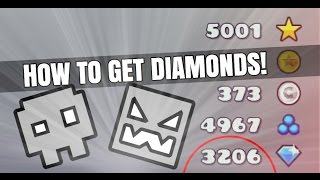 geometry dash world how to get diamonds fast