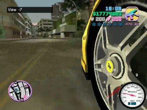 GTA Vice City- Ferrari Enzo Mod+Camera Hack!