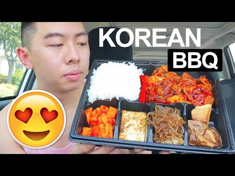 KOREAN BBQ MUKBANG (Spicy Pork Bulgogi + SIDES) ft. Bento Box | Korean Food Mukbang Eating Show