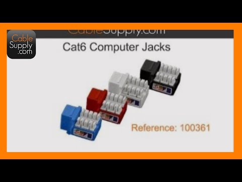 How to cable a Cat6 jack - YouTube