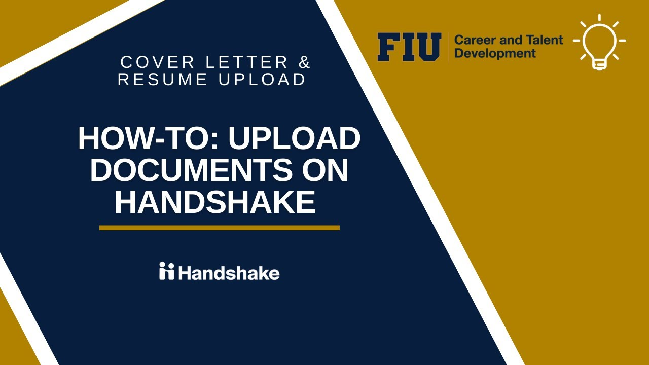 how to upload a resume  cover letter on handshake