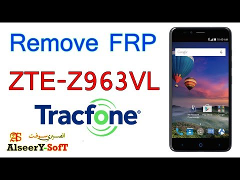 How to Bypass FRP ZTE Z963VL TracFone | Google account