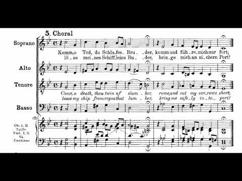 Bach BWV 56-5 Komm, Tod, du Schlafes Bruder