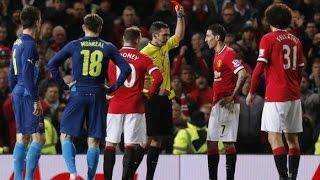 Zlatan ibrahimovic vs Angel Di Maria 2015: Red card
