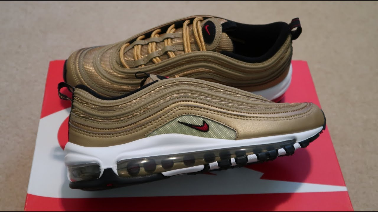 Air Max 97 OG QS  Metallic Gold  Sneaker Unboxing - YouTube 6c48a5212444