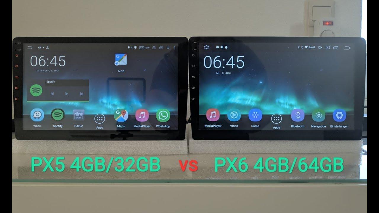 Android Radio PX5 (RK3368) vs PX6 (RK3399) Benchmark Leistungsvergleich  (DEU/ENG)