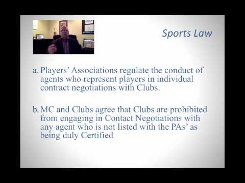 Video:  The Role and Purpose of a Sports Agent pt. 1