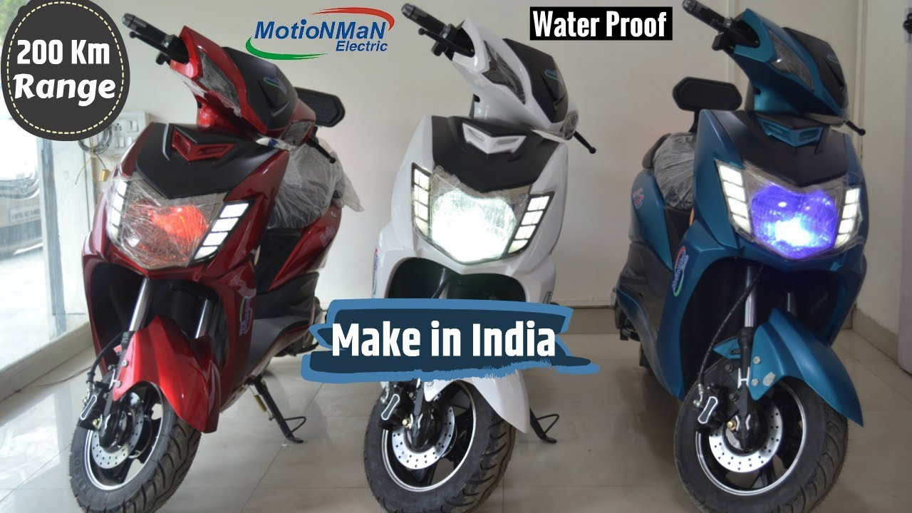 200km Range Electric Scooter In India Motionman Electric Youtube