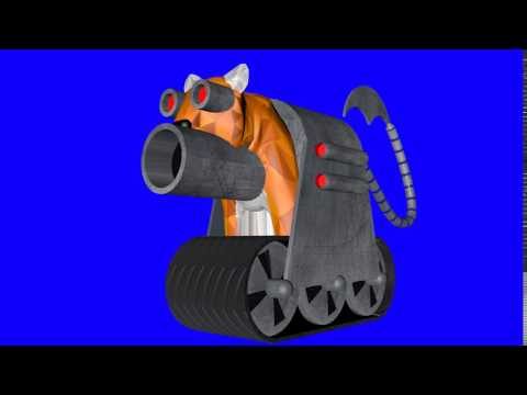Caspian Tiger 3D Cyborg