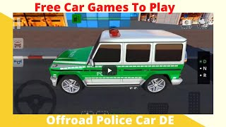 Offroad Police Car DE-  Free Car Games To Play  New Android Games
