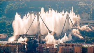 Remains of collapsed Genoa bridge demolished