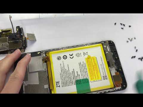 Zte Blade Z Max z982 disassembly lcd, charging port, battery, camera and install lcd , parts.