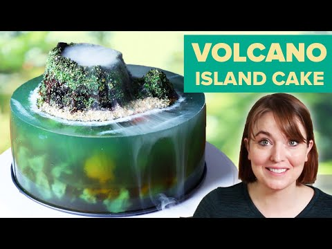 I Tried To Make A Volcano Jelly Island Cake • Tasty