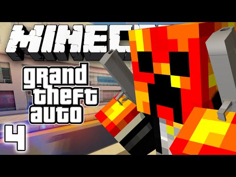 TAKING ON THE MILITARY! - Grand Theft Auto V - #4 (Minecraft