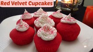 EGGLESS RED VELVET CUPCAKE RECIPE  Eggless Recipe  Valentine&#39s Day Special