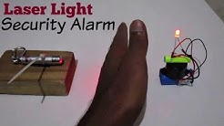 Laser Security Alarm - How to make a Laser Light Security Alarm System at Home