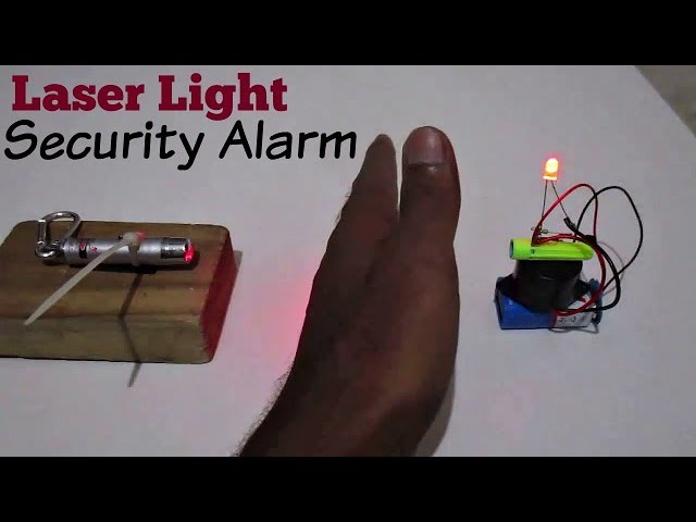 Laser Security Alarm How To Make A Laser Light Security Alarm System At Home Youtube