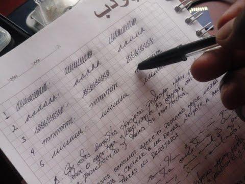 C mo mejorar tu letra y tener letra bonita en 10 minutos doovi - Como mejorar la caligrafia ...