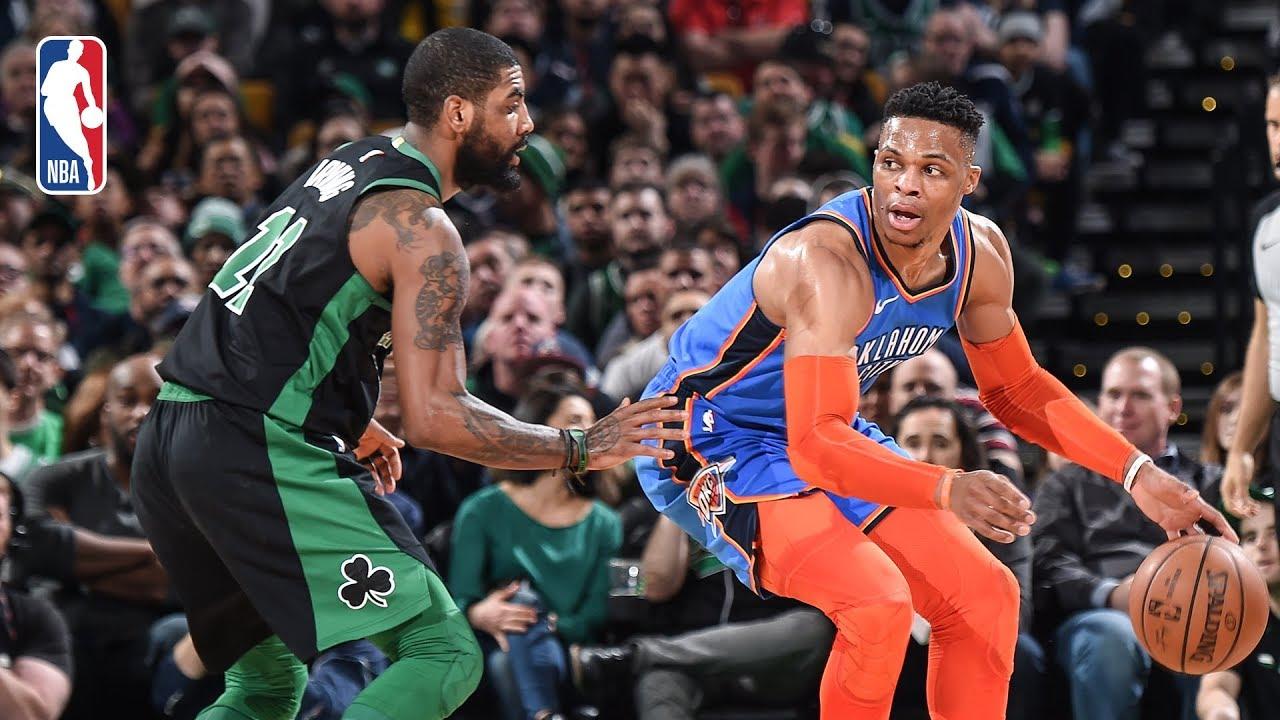 "Boston Celtics defeat Oklahoma City Thunder: ""One of those Kyrie Irving games ..."