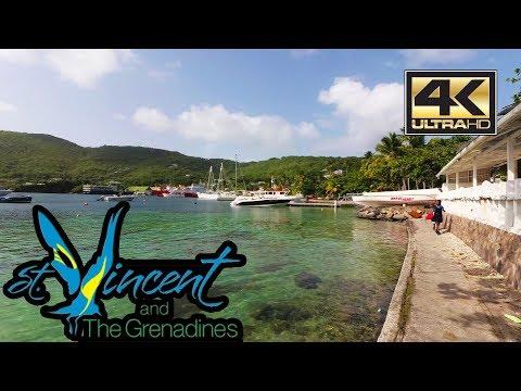 St Vincent 4K -  Bequia Island - Walking to Port Elizabeth - Sept 2017