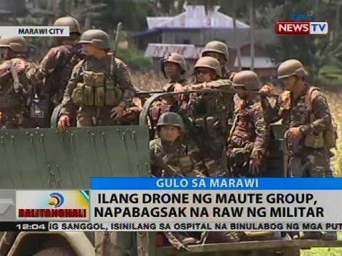 Ilang drone ng Maute Group, napabagsak ng raw ng militar