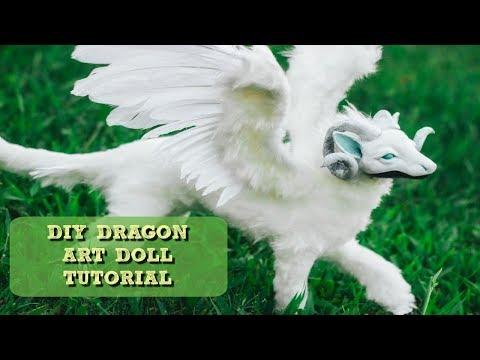 DIY Poseable Winged Dragon Art Doll Tutorial