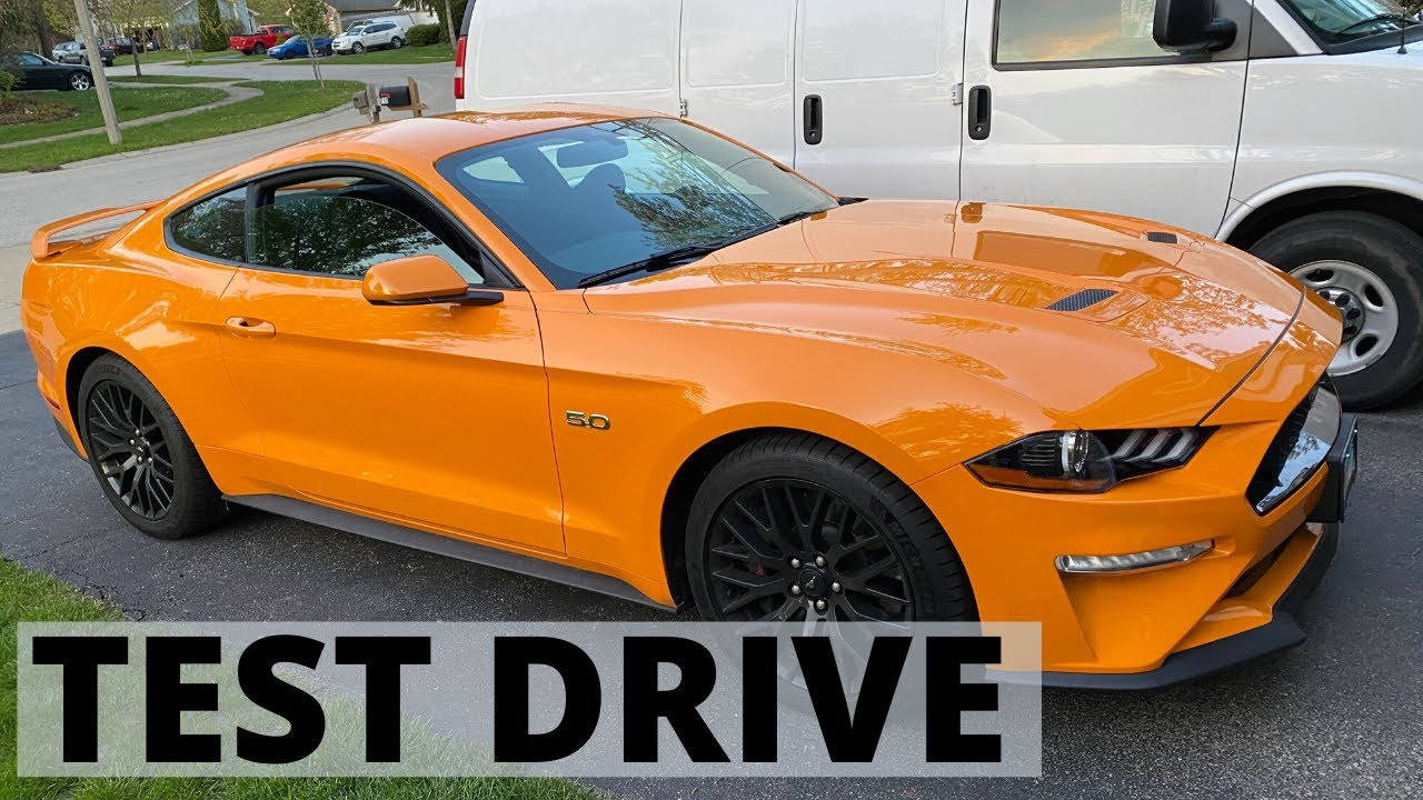 2019 Ford Mustang GT orange fury Road Test