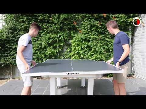 Convert Your Pool Or Dining Table To An Cornilleau Outdoor Table Tennis Table In Just 2 Minutes!