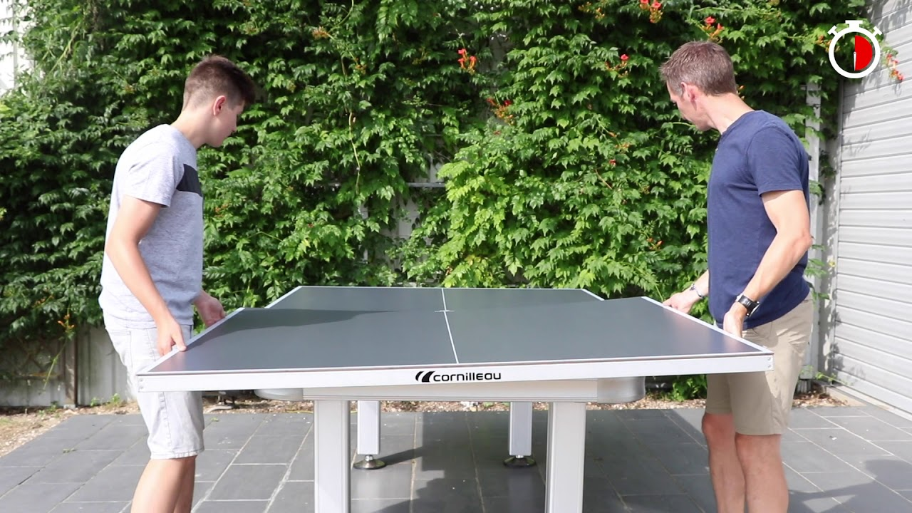 Convert Your Pool Or Dining Table To An Cornilleau Outdoor Tennis In Just 2 Minutes
