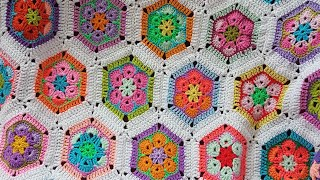 Afrika Çiçeği Motif Ve Motif Birleştirme / Crochet African Flower