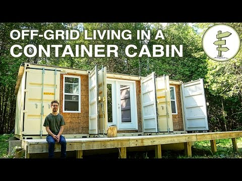 Living Off-Grid in a Self-Built 20ft Shipping Container Home