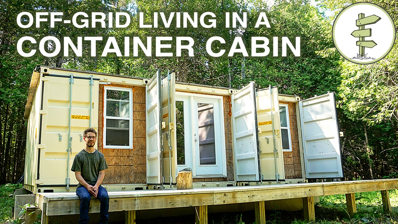 Living off grid in a self built 20ft shipping container for Living off the grid house plans